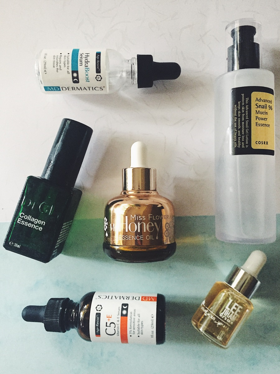 [GO4GLOW Spotlight]: All about essences, serums, ampoules and what to choose for your skin (Hyaluronic acid, snail mucin, propolis, Vitamin C, niacinamide)