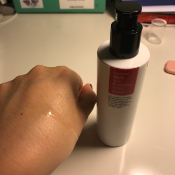 GO4GLOW Natural BHA skin returning a sol review anti acne